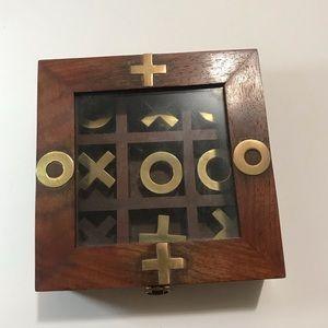 Executive wooden classic tic tac toe game